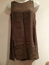 Green Long Vest Top.  Size 6. Miss Selfridge