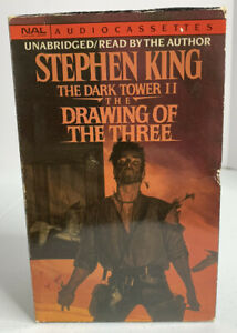 Stephen King The Dark Tower II The Drawing Of The Three Audio Cassettes NAL 1989