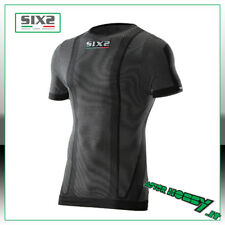 MAGLIA T-SHIRT GIROCOLLO MANICA CORTA SIX2 BLACK CARBON TS1 L SUPERLIGHT TG L