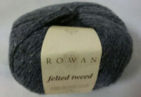 (17 €/100 g): 50 g Rowan FELTED TWEED, Fb. 159 Carbon - grau, Lot 11506  #3571
