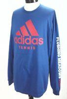 ADIDAS Tennis T-shirt L/S Royal Blue/Red Flushing Meadows 17' CU8468 Mens XL New