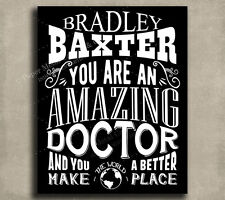 Doctor Amazing Custom Plaque Tin Sign Gift For Physician Pediatrician Orthope.