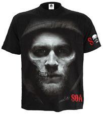 Espiral Directo Jax skullt-Shirt hijos de la anarquía/Redwood SAMCRO/Calavera/Pistola/SOA/Top