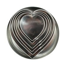 Heart Shaped Stainless Steel Cutter - 6 Pieces