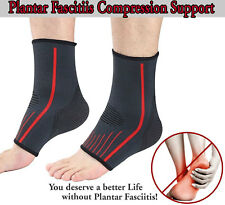 Foot Compression Sleeve Protector Ankle Support Elastic Arch Brace Pain Relief