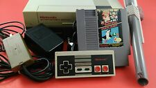 Nintendo NES System Console [w/ Mario Bros Controller Zapper & Cables] Working
