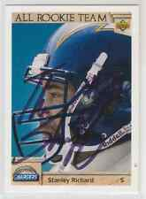 Autographed 1992 Upper Deck Stanley Richard(All Rookie Team) - Chargers