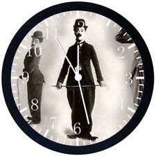 Funny Charlie Chaplin Black Frame Wall Clock Nice For Decor or Gifts E106