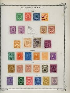 COLOMBIA Scott Specialty Album Page Lot #8 - SEE SCAN - $$$