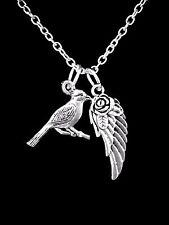 Cardinal Bird Animal Angel Wing Sister Mom Son Christmas Gift Charm Necklace