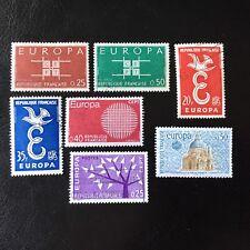 Lot de 7 timbres de France EUROPA - A56