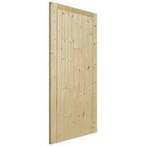 External Solid Knotty Pine Unfinished Framed, Ledged & Braced Wooden Gate