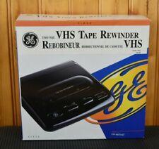 GE Slimline VHS Video Cassette Tape Two Way Rewinder  re- winder