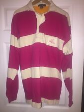 Vtg 90s Hip-hop Style Men L Nautica Striped L/S Rugby Polo Shirt One Design
