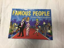 Famous People The Game of Celebrity Impersonations Game RPG NEW IN BOX SEALED!