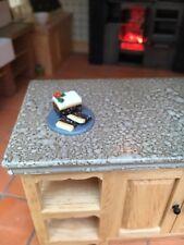 Handmade Christmas Cake, Dolls House Miniature Food. 1:12 Scale, Handmade Xmas