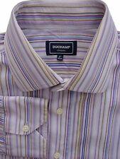 DUCHAMP LONDON Shirt Mens 16.5 L Lilac - Multi-Coloured Stripes