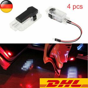 4X LED Auto Logo Türbeleuchtung Transparent Tür Licht Projektion Für Audi