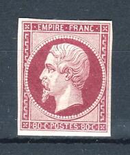 "FRANCE STAMP TIMBRE 17 Ah "" NAPOLEON III 80c CARMIN 1862 "" NEUF x TB SIGNE  P370"