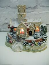 More details for lilliput lane illuminated christmas church 2002 lead kindly light in winter
