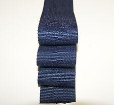"Webbing, 2"" Inch Wide Blue Polypropylene Sold By-The-Yard 36"" Uncut Lengths"