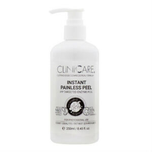 CLINICCARE INSTANT PAINLESS PEEL 250ml - AMAZING ENZYME RESULTS / GLOWING SKIN