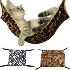 Pet Cat Hammock Leopard Fur Bed Animal Hanging Dog Ferret Cage Comforter Us