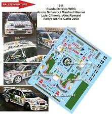 Decals 1/43 Ref 0311 Skoda Octavia WRC Schwarz Climent Rally Mounted Carlo 2000
