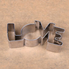 Stainless Steel Lovers Cookie Cutter Love Letter Forms Biscuit Mold Funny Lk3