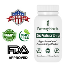 Zinc Picolinate 30mg Extra Strength - Immune Support and Booster - 60 Caps Fresh