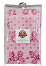 NEW LIVING TEXTILES 2 PCE COT SHEET SET--BUTTERFLY PINK