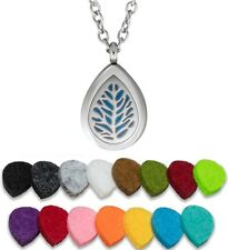 Essential Oil Diffuser Necklace Pendant Stainless Steel Aromatherapy Spirit Drop