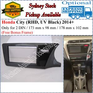 Fascia facia Fits Honda City 2014+ UV Black Double 2 Two DIN