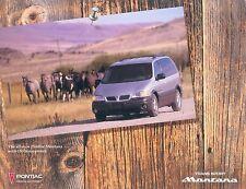 Pontiac Montana Prospekt USA 1997 sales brochure Auto PKWs Autoprospekt Amerika