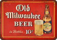 "1937 Old Milwaukee Beer Rustic Retro Metal Sign 8"" x 12"""