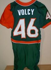 Jean Volcy 2005 Miami Hurricanes Nike Revolution GAME USED WORN green #46 jersey