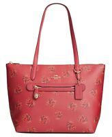 Coach Taylor Floral Print Leather Red Apple Style 79630 Tote NWT $195