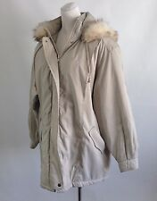 Forecaster of Boston Women's Size Large Hooded Winter Coat Faux Fur Lining
