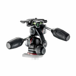 Manfrotto  3-Way Head with Retractable Levers and Friction Controls (Black)