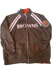 Vintage Mitchell And Ness Nfl Browns Throwback Jacket Size 52 (2XL)