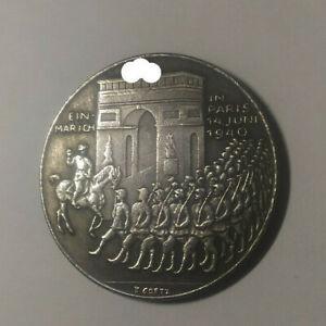 Piece Hitler 1940 5RM Reichsmark Coin Arc de Triomphe Champs Elysees ww2 German