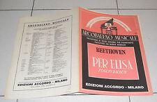 Spartito BEETHOVEN Per Elisa Foglio d'album Harry Bendler Pianoforte Piano