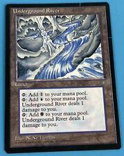 MTG Magic The Gathering Underground River Ice Age MP Moderate Play F FIne Land