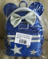 Loungefly Disney Parks Minnie Mouse Sequined Mini Backpack Wishes Come True Blue