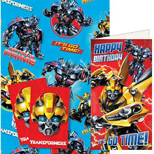Transformers Birthday Card & Wrapping Paper Pack with FREE P&P (TR049)