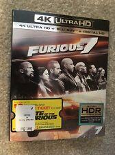 Furious 7 ( 4K Ultra + Bluray + Digital HD) Brand New