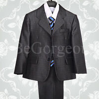 5 pcs Formal Suit Tux Suit Wedding Page Boy Outfit Dinner Party Age 1-6 Yrs 016B