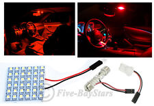 1x T10 & Festoon Universal 36 SMD Plasma Red LED Panel Interior Dome Map Light