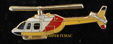 BELL 206B HELICOPTER HAT LAPEL PIN WOW TIE TAC