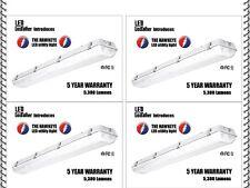 LED Utility Shop Light 4' Ft 44 Watts Instant-On 5,920 Lumens Garage 4 PACK NEW!